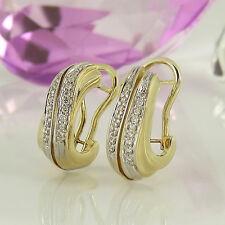 Clipstecker in 585/- Gelb/Weißgold mit 36 Diamanten ca 0,30 ct Wesselton si
