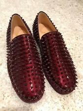 NIB Christian Louboutin Roller Boat Orthodoxe Spike Patent Low Sneaker Flats 40