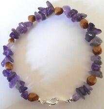 American Indian Navajo Ghost Cedar Beads Juniper Berry & Amethyst Bracelet