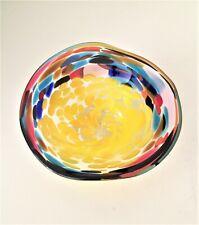 kleine Schale mille fiori Glas mundgeblasen unbekannte Marke 11 cm /R3/8