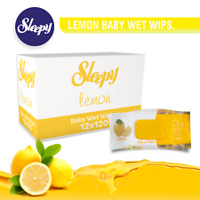 Sleepy Baby Wipes 1440 -count, Extra-Large, with Lemon Free Shipping