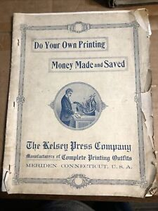 ~1904 Kelsey Press Company Printing Presses Advertisement Sales Circular Prices
