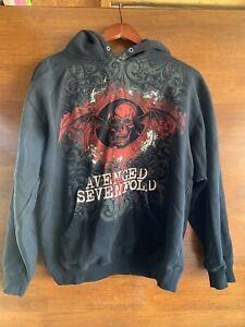 Avenged Sevenfold Hoodie Sz Small Rare USED
