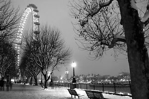 SUPERB LONDON NIGHT SKYLINE CANVAS #217 CITYSCAPE CANVAS PICTURE WALL ART A1
