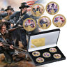 WR 5pc 1861 American Civil War Gold Commemorative Coin For Collection In The Box