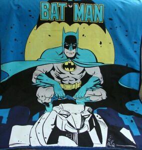 Batman Cotton Top Blue Minkee Cot Blanket Handmade