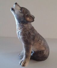 """1992 Lenox 6-7/8"""" in Height Gray Wolf Pup   Smithsonian Institution 1992"""