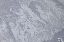Antike rechteckige Mitteldecken aus Damast