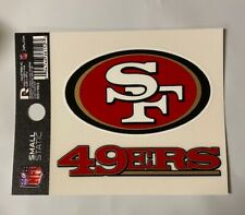 "San Francisco 49ers 3"" x 4"" Team Logo Static Cling - Truck Car Auto Window Decal"