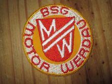 A359 AUFNÄHER BSG MOTOR WERDAU Rot-Weiss DFV DDR Sport Fußball Oberliga Ultras
