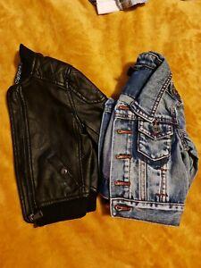Baby Boy 3-6m leather/denim jackets (River Island & Next) EX.condition