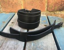 Real Leather Strap Buckle Bracelet Choice of Colours & Widths Hand Made Cuffs