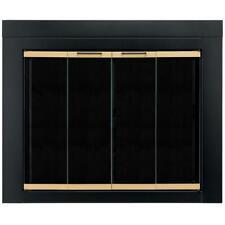 Pleasant Hearth Arrington Large Glass Fireplace Doors