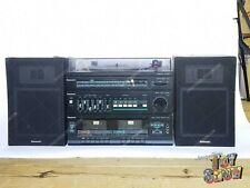 Vintage Panasonic SG-D15 stereo system turntable cassette deck & speakers WORKS