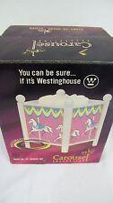 CAROUSEL PONY HORSES DECORATIVE SPINNING LAMP NEW WESTINGHOUSE 1999