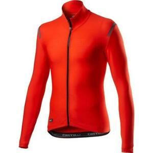 Castelli Tutto Nano RoS Bicycle Cycle Bike Jersey Fiery Red