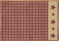 Country Primitive Red Star Farmhouse Star Placemat Table Rustic NEW