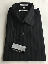 Geoffrey Beene Black WRINKLE FREE Men's Dress Shirt NWT 16 34/35
