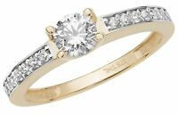 Solitaire Engagement Ring Ladies Yellow Gold 0.75 Carat Solitaire Ring
