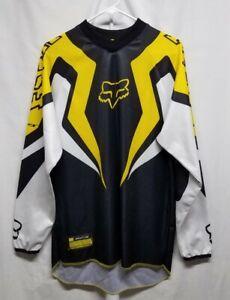 Fox Racing SFX Men's Long Sleeve Racing Jersey Shirt, Black, Yellow Size Medium
