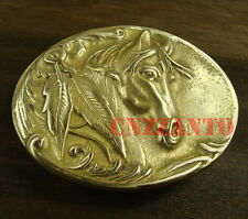 Solid Brass Belt Buckles buckle Plate horse head pattern Classical for 38mm belt