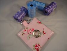 PRETTY PINK FLORAL- DOG POOP / POO/ POOH BAG HOLDER/ DISPENSER- SHOWERPROOF