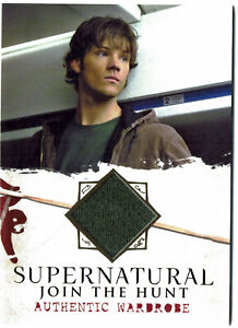 Supernatural Seasons 1-3 Cryptozoic Wardrobe Costume Card M03 Sam Winchester
