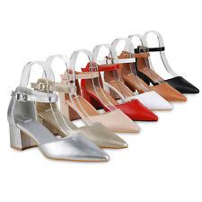 Damen Spitze Pumps Klassische Riemchenpumps Mid Heels Absatzschuhe 833612 Schuhe