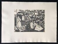 Herbert Grunwaldt, Aus alter Zigeunerzeit, Farbradierung, 1969, handsigniert