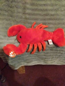 TY PINCHERS the LOBSTER BEANIE BUDDY - MINT with MINT TAGS