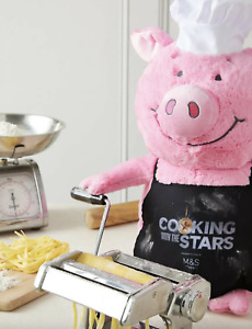 NEW Percy Pig Limited Edition Chef Soft Toy Plush  *M&S Cooking With The Stars*