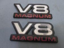 DODGE MAGNUM V8 BADGE LOGO  EMBLEMS OEM QTY 2