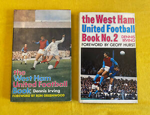 The West Ham United Football Books No.1 & No.2 By Dennis Irving