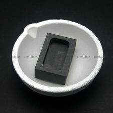 1000grams Quartz Crucible Smelting Bowl Graphite Ingot Mold Gold Silver Melting