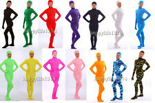NEW Face Open Lycra Spandex Zentai Party Costume Bodysuit Catsuit Unitard