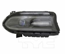 TYC Right Side Halogen Headlight For Dodge Charger w/ LED DRL 2016-2018 Models