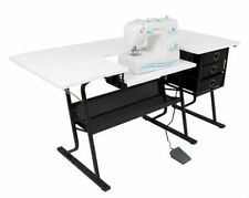 Folding Sewing Craft Cutting Table Hobby Quilting Art Home Workspace Desk