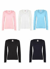 Fruit of the Loom Long Sleeve Basic T-Shirts for Women