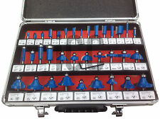 "Router bit set professional carpentry power tool bits 1/4"" shank 6mm routing kit"