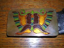 Buckle Nice! Made Seattle Wa 1978 Classiness Art Work Belt