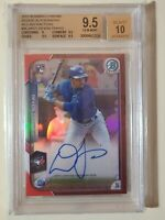 2015 Bowman Chrome Red Refractor Devon Travis RC #d 3/5 BGS 9.5 Gem Mint AUTO 10