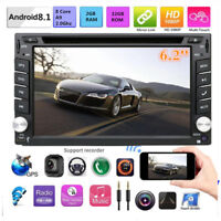 Car Stereo Radio Android 8.1 Double Din 1080P GPS Wifi DVD 3G 4G BT DAB DTV OBD