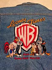 Warner Brothers Classic Cartoons Looney Tunes  Denim Jean Jacket  Size Medium