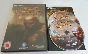Call Of Cthulhu Dark Corners Of the Earth PC CD ROM Game Worldwide Post! RPG