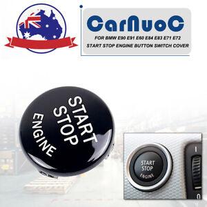 Fit for BMW E90 E91 E92 Black Car Start Stop Engine Button Replace Trim Cover