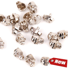 50 Sets Silver Skull Rapid Rivets Spike Studs Metal Spots Double Cap Craft DIY