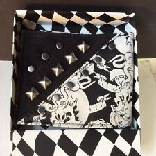 Bifold wallet with skulls  New gift boxed  biker Gothic  kids adult  billfold