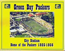 Green Bay Packers Poster NFL City Stadium Home 1933-56 Vintage Football Photos