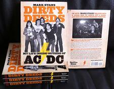 DIRTY DEEDS: My Life Inside/Outside of AC/DC Book *Mark Evans/Bon Scott/Sabbath*