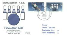 Germany 1985 FDC 1238-39b Sport Bowling Canoeing